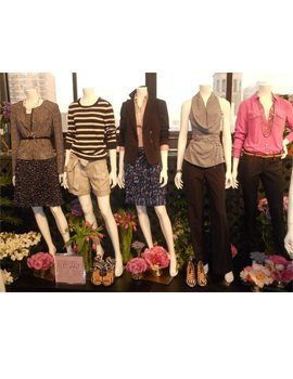 Ann taylor spring preview -- outfits on mannequins