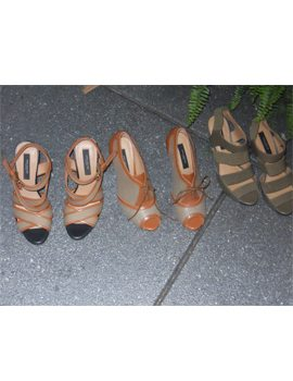 Three pairs of heeled shoes