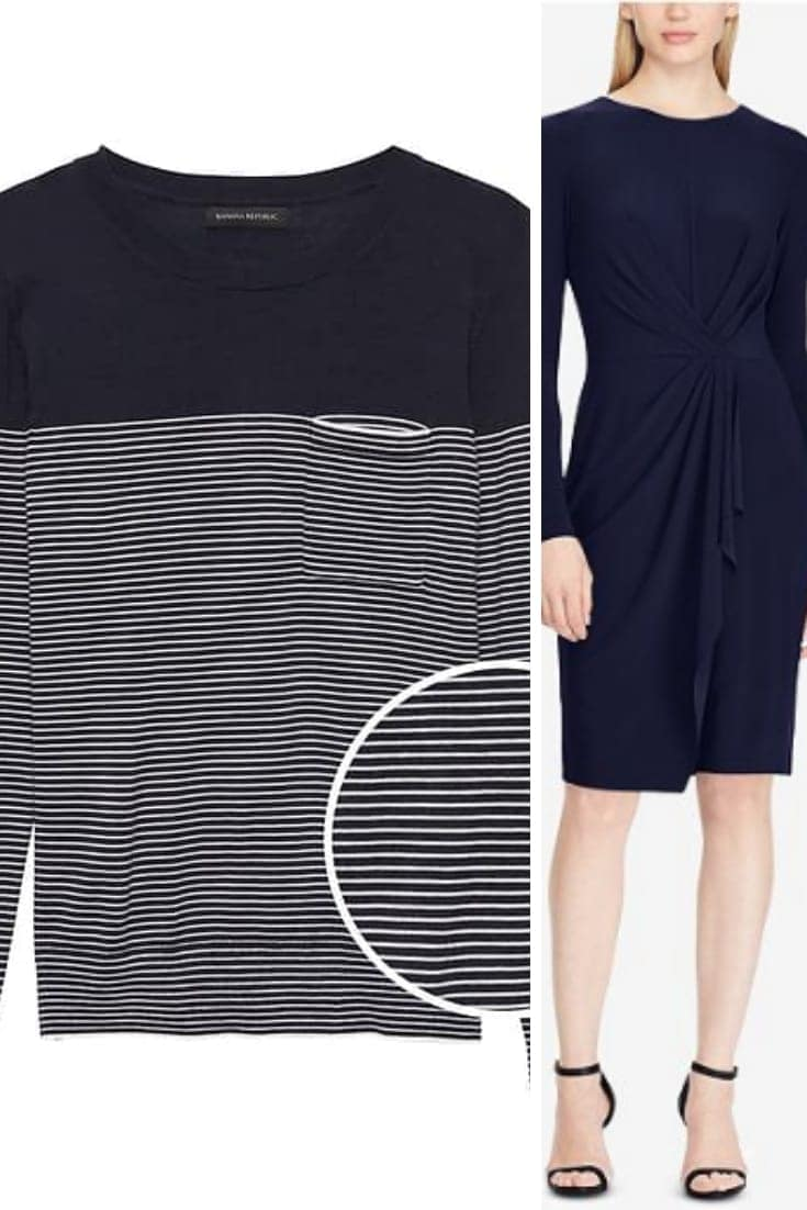 Sweater and dress in eclipse, pantone's trending navy