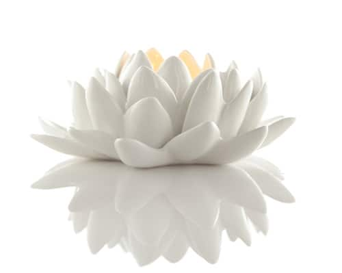 lotus shaped candle holder