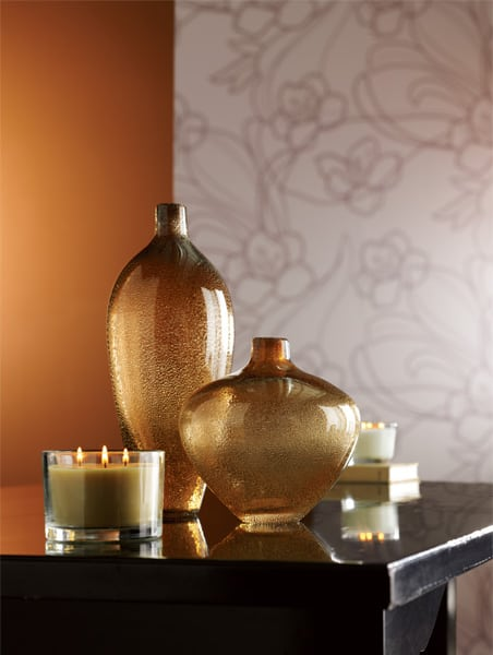 glass vases on table
