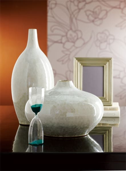 large vases on table