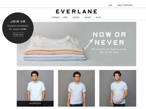 Everlane website screenshot