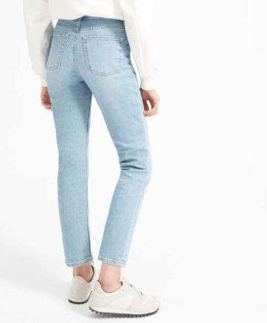 Light wash straight jeans for women over 50
