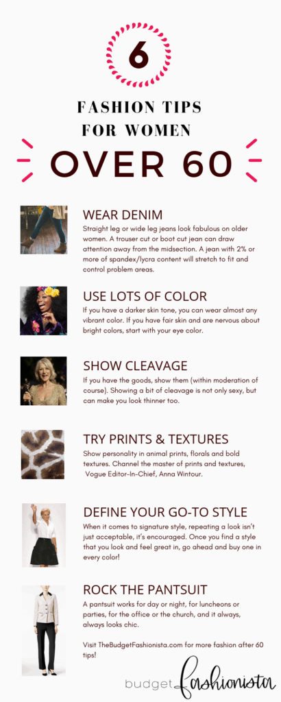 Infographic: fashion tips for women over 60