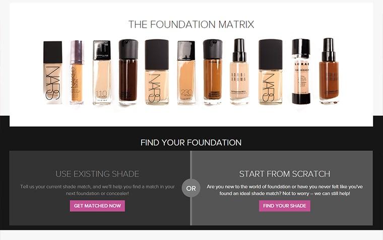 Temptalia foundation matrix