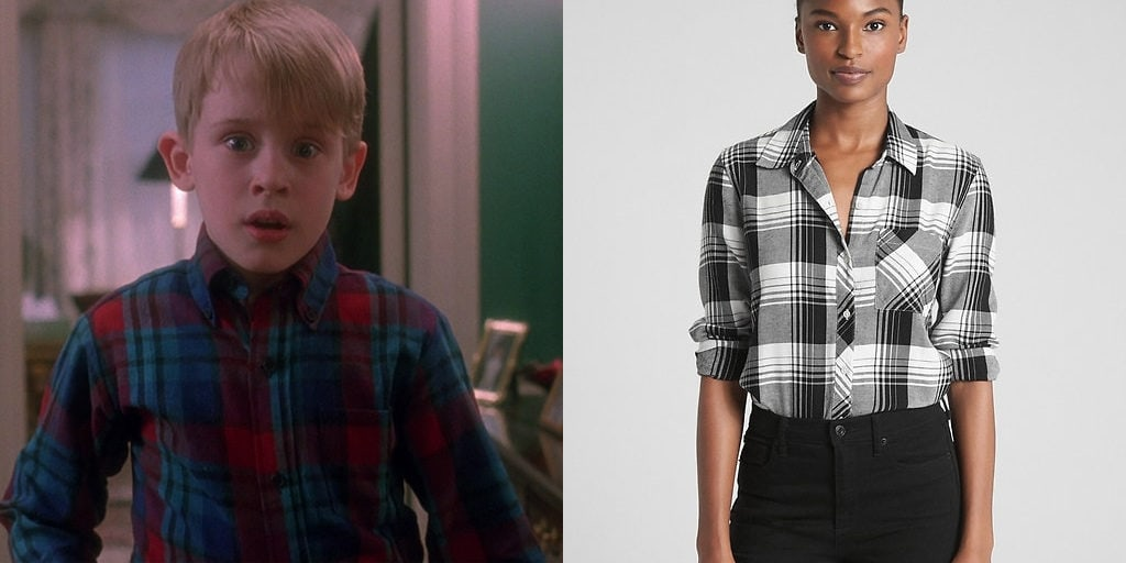 "Plaid shirt inspired by ""Home Alone"""