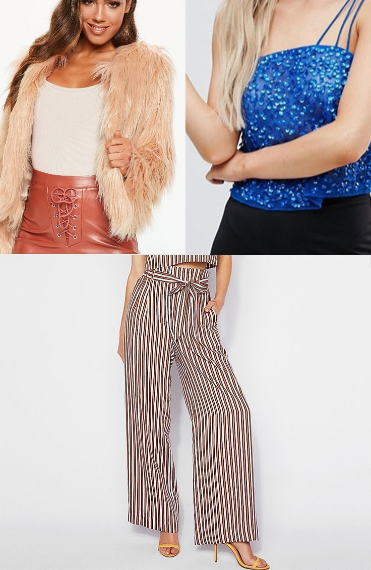 Petite outfit idea: collage of three petite pieces