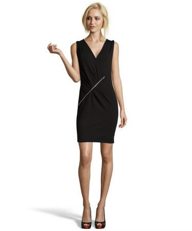 lbd with zipper detail