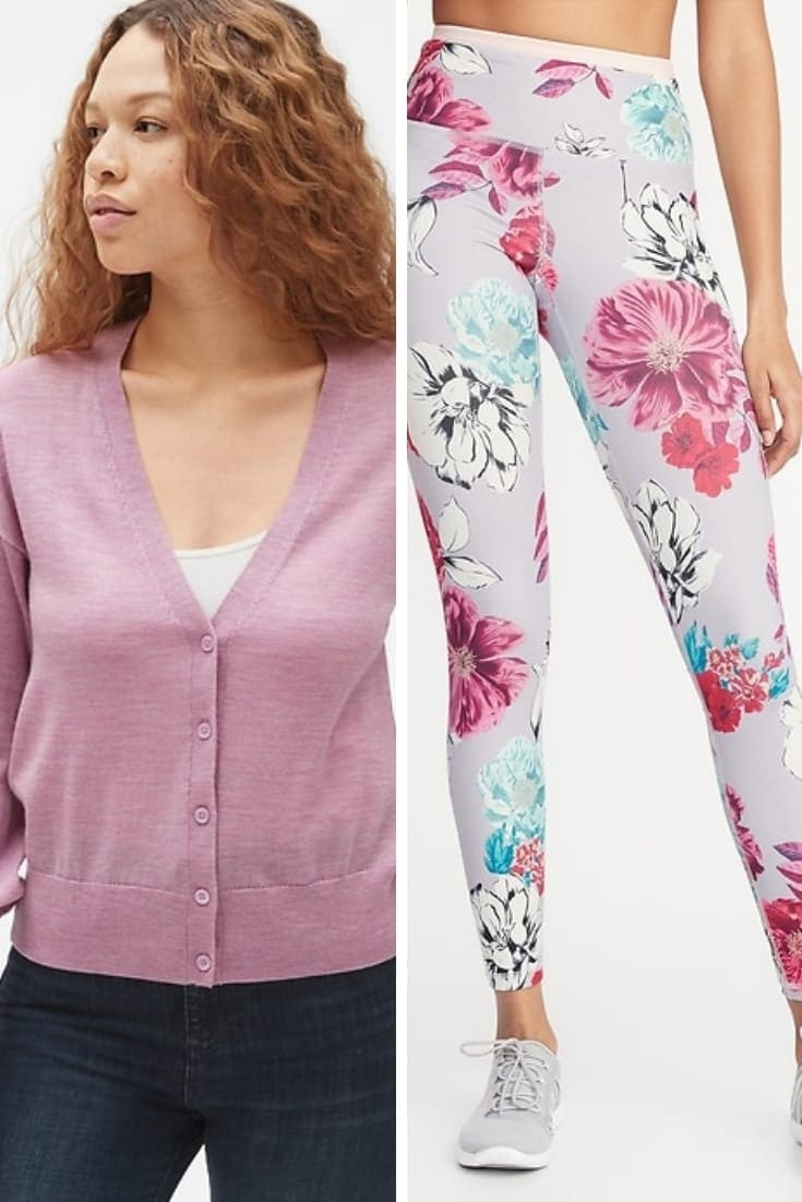 Cardigan and leggings in Pantone's trending lilac