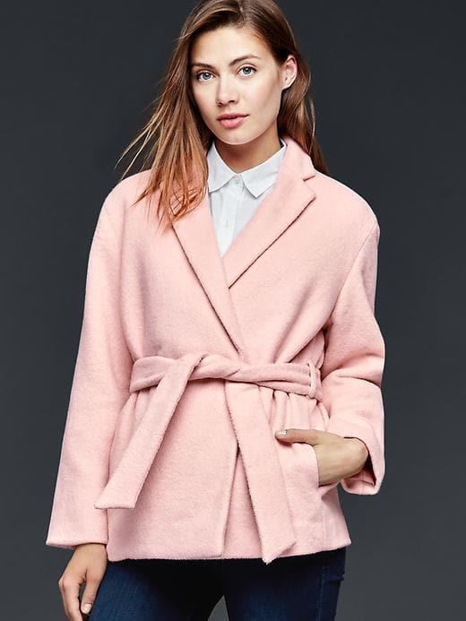 Mauve wrap coat