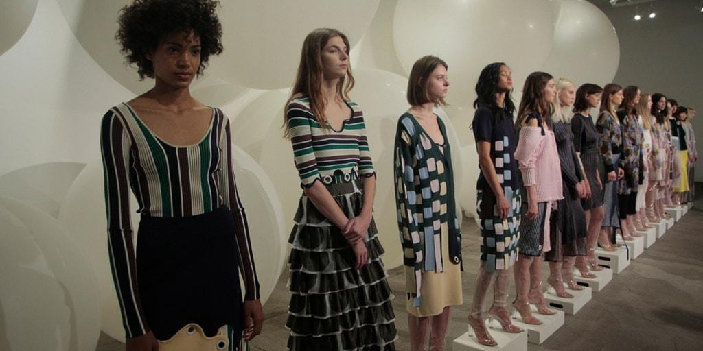 Fashion show at New York fashion week