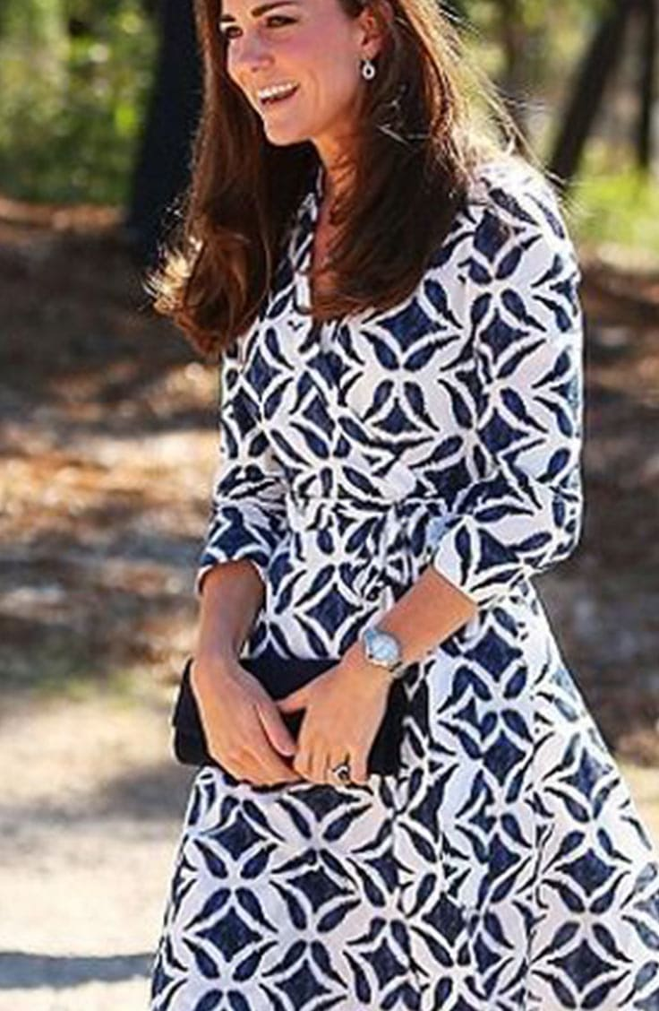 Kate Middleton wearing the Patrice dress by DVF
