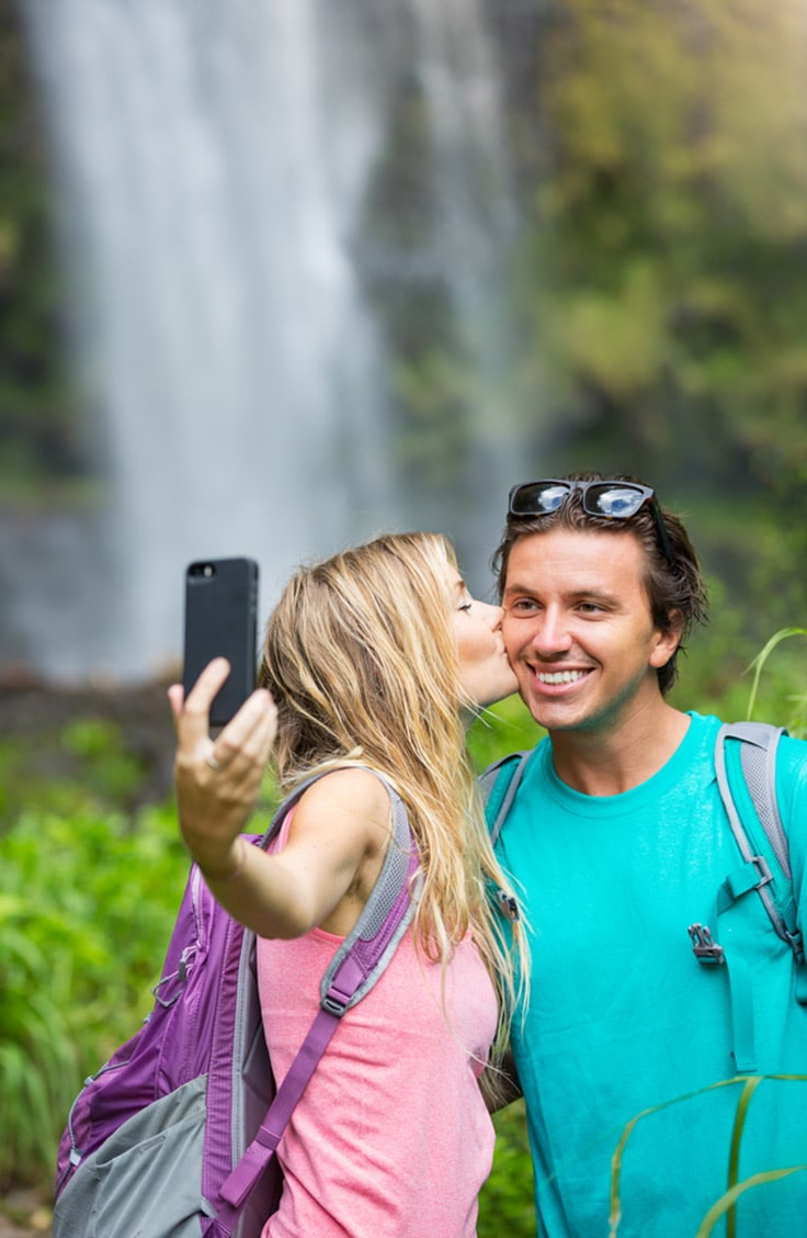 Couple taking a picture together