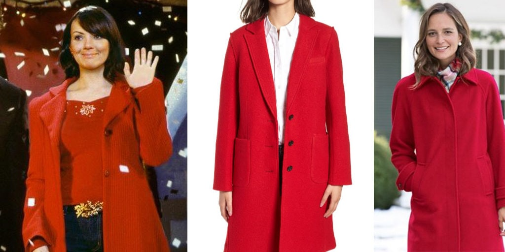 Red wool coats inspired by Love Actually