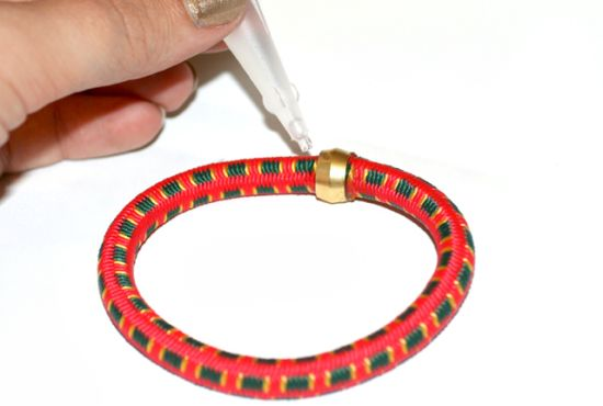Step 4 Bungee Cord Bracelet