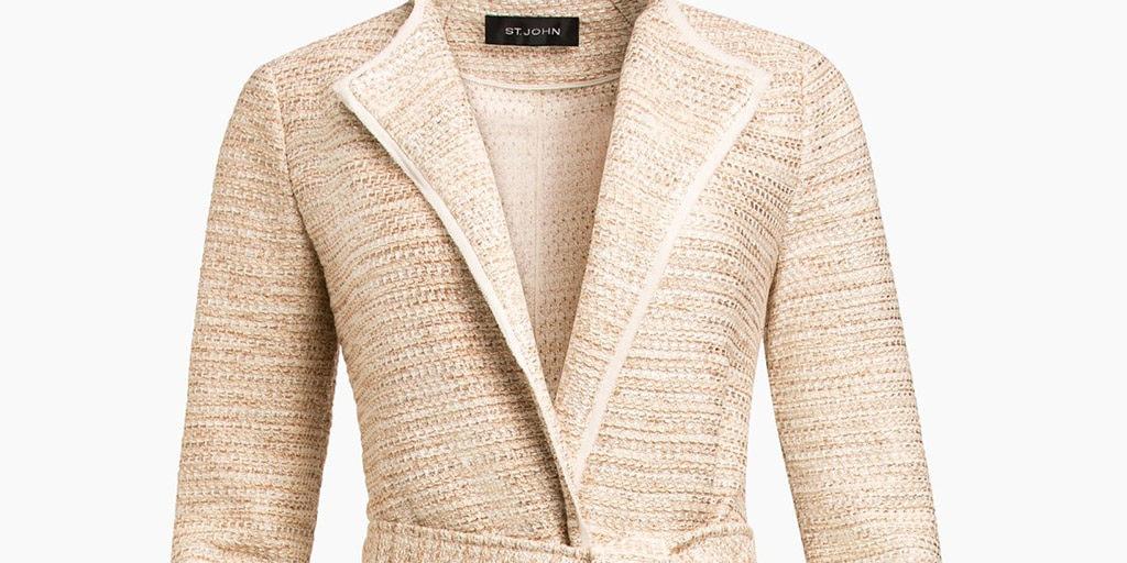 Sand colored St Johns knit jacket