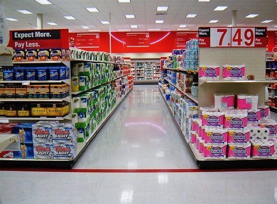 Inside of a Target store