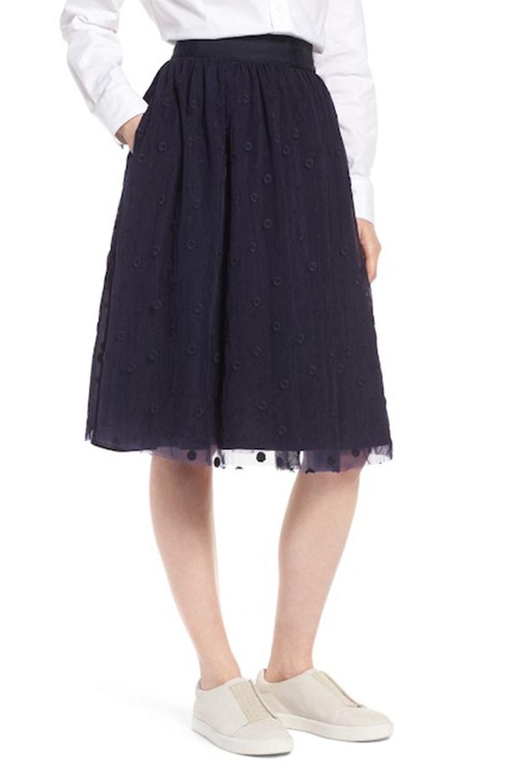 Navy tulle skirt from 1901