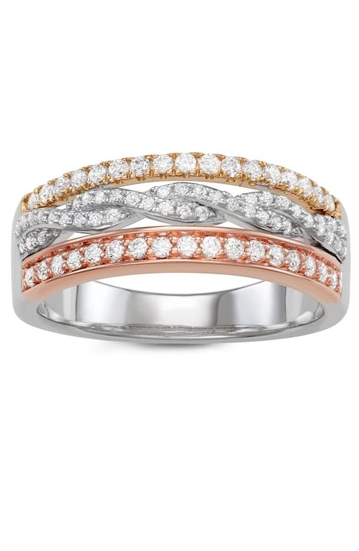 Tricolor diamond ring by Simply Vera Vera Wang