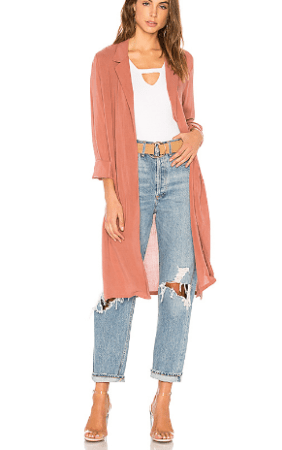 Pale rust spring trench coat
