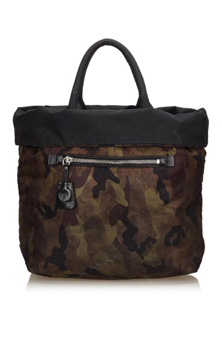 Camouflage designer tote bag