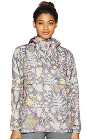 Floral packable jacket by North Face