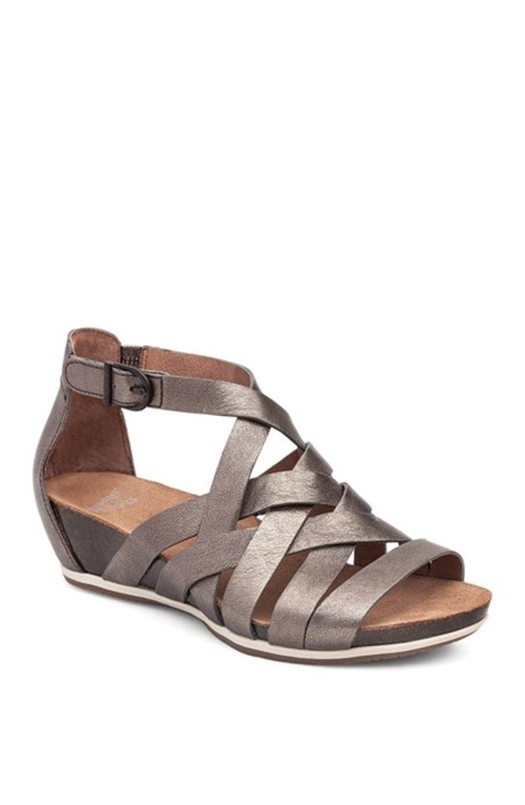 Pewter gladiator sandal