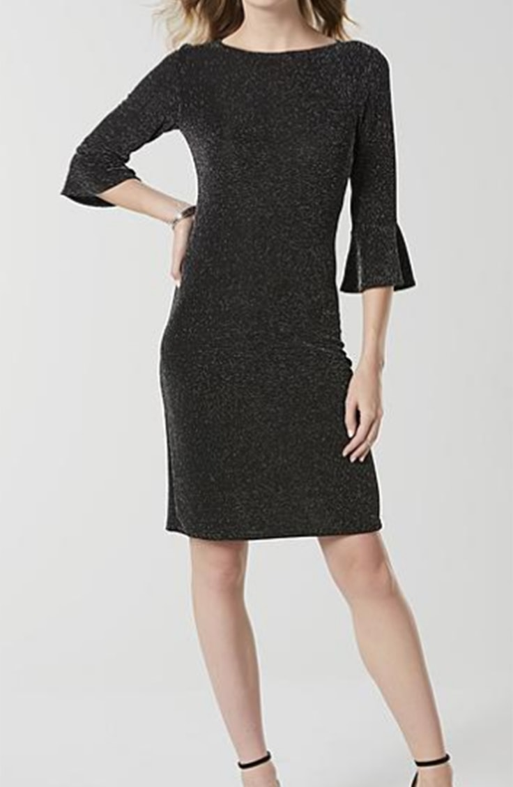 Black and silver shift dress from Jaclyn Smith, Kmart