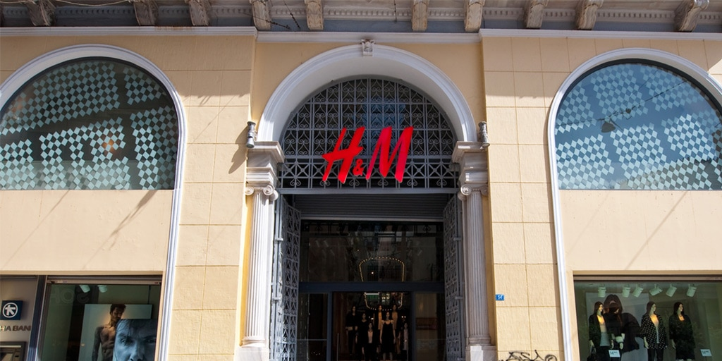 Exterior of H&M store