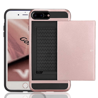 Pink iphone case with compartment
