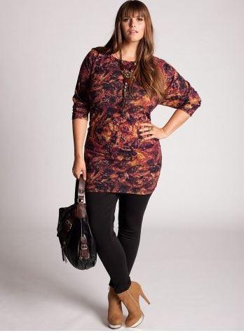 woman wearing plus-size leggings