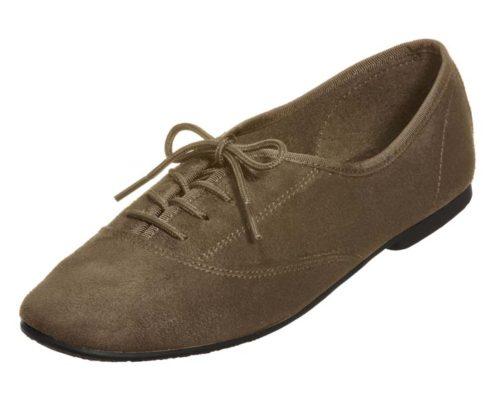 faux suede oxford shoe