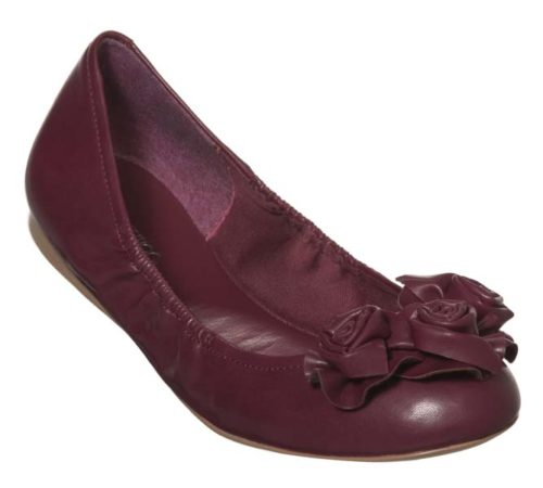 red flat shoe