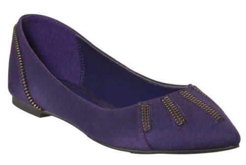 purple flat shoe