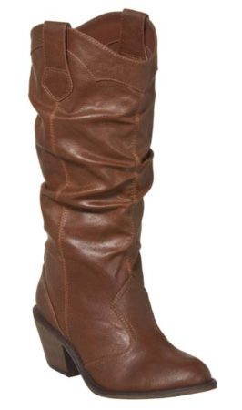 Heeled slouchy boot