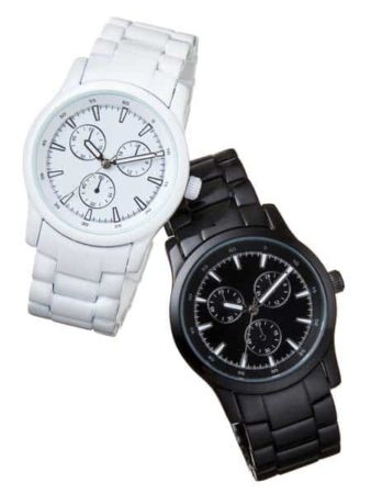 black and white watches