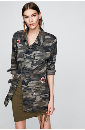 embroidered camo military jacket