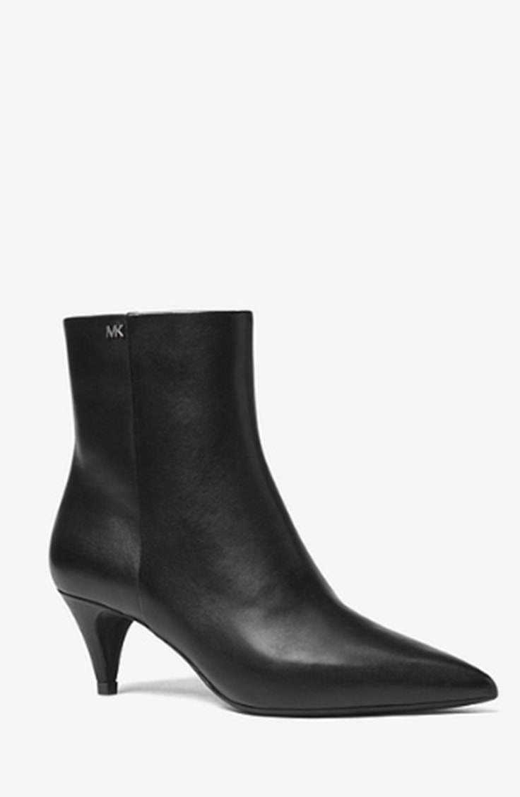 Black ankle boot with kitten heel