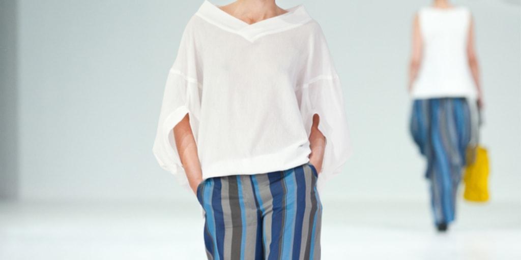runway model wearing the oversized trend