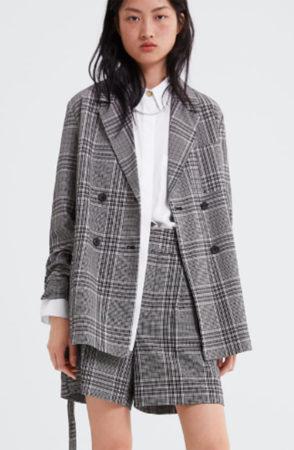Check blazer from Zara