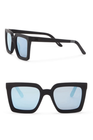 oversized sunglasses with black frames
