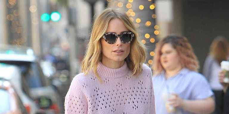Arielle Vandenberg wearing patterned sunglasses