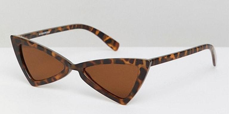 Tortoise shell, triangle sunglasses