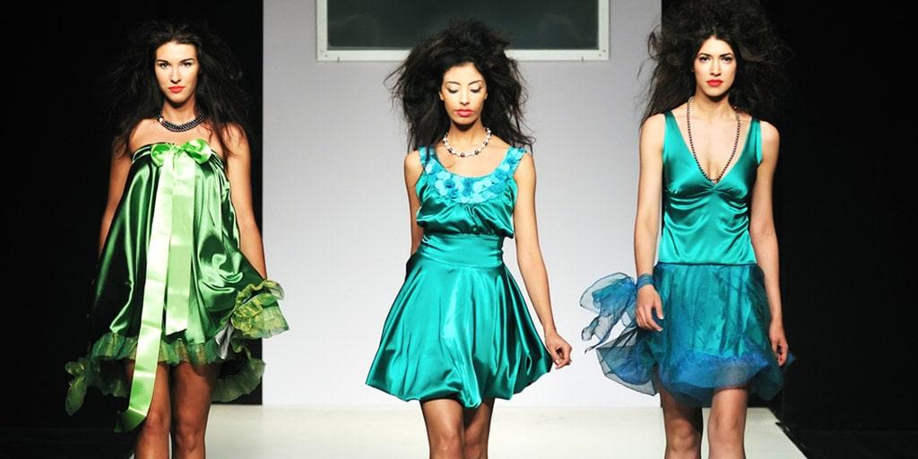 Runway models during fashion show