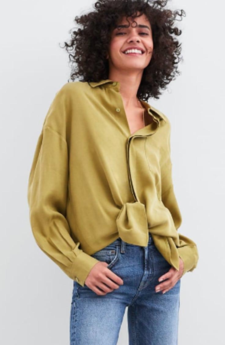 Light green oversized blouse