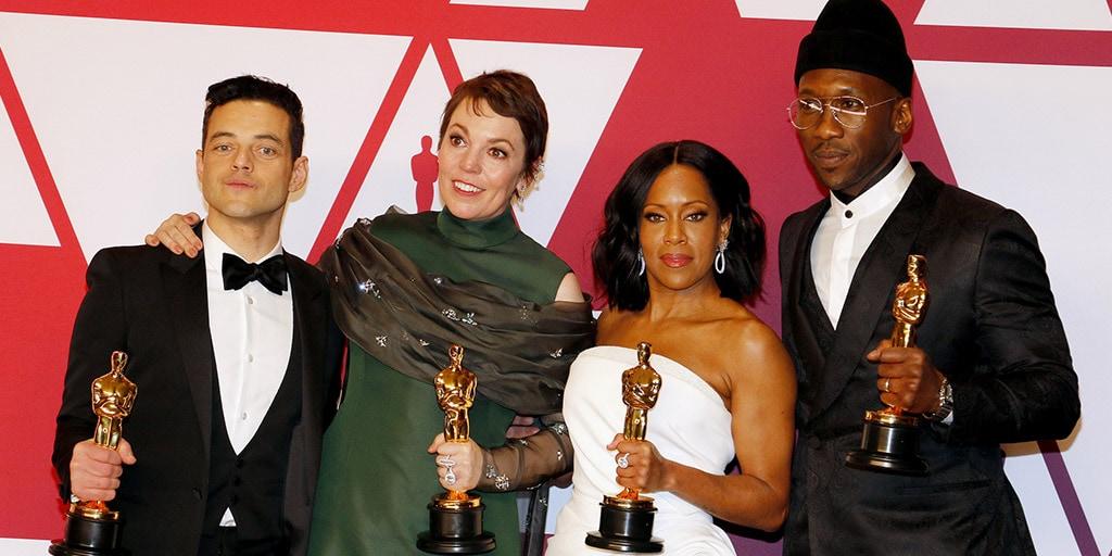Rami Malek, Olivia Colman, Regina King, Mahershala Ali at the 2019 Oscars