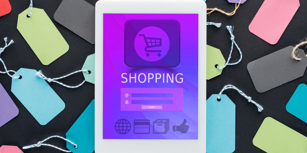 Best coupon sites for online shopping: tablet with sale tags around it