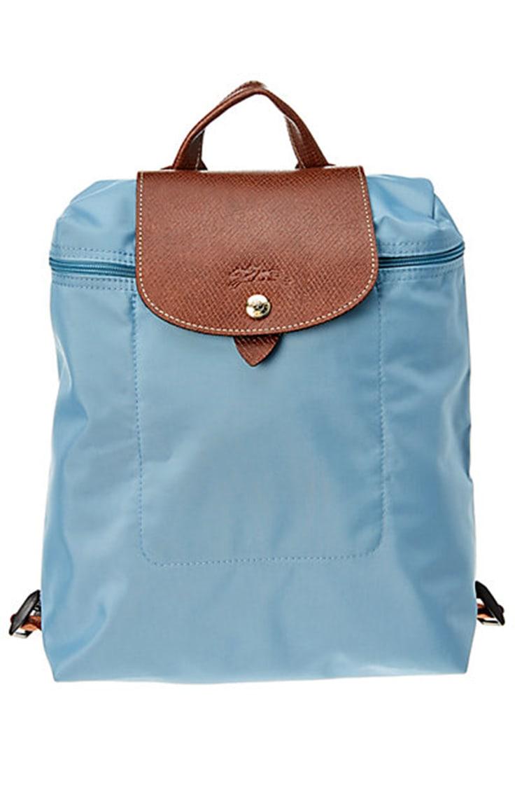 Blue nylon fashion backpack