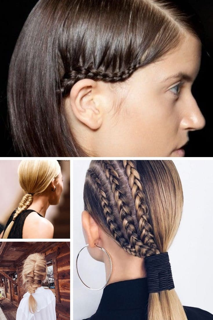 Collage of braided hair